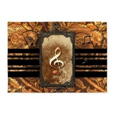 Awesome clef 5'x7'Area Rug