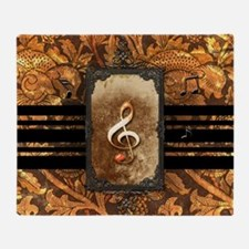 Awesome clef Throw Blanket