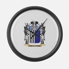 Trenchard Coat of Arms - Family C Large Wall Clock