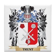Trent Coat of Arms - Family Crest Tile Coaster