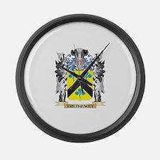 Trethewey Coat of Arms - Family C Large Wall Clock