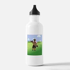 Funny cartoon golfer l Water Bottle