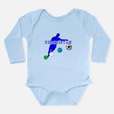 Uzbekistan Football Long Sleeve Infant Bodysuit