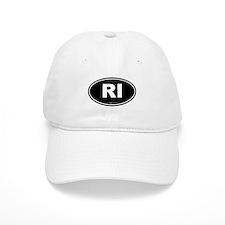 Rhode Island RI Euro Oval Baseball Baseball Cap