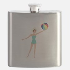 Beach Woman Flask
