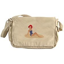 Beach Woman Messenger Bag