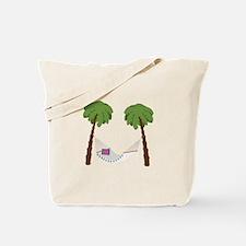 Palm Trees Hammock Tote Bag