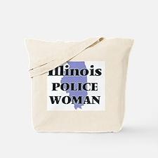 Illinois Police Woman Tote Bag