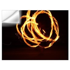 Fire Spinning Wall Decal