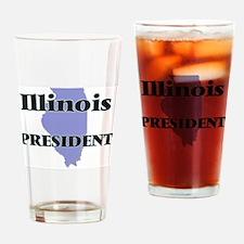 Illinois President Drinking Glass