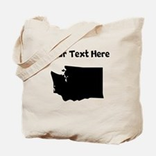 Custom Washington Silhouette Tote Bag