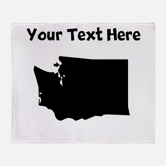 Custom Washington Silhouette Throw Blanket