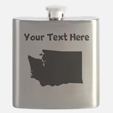 Custom Washington Silhouette Flask