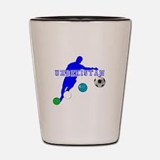 Uzbekistan Football Shot Glass