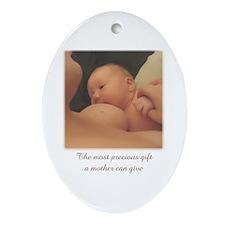 """Most precious gift"" Ornament/Keepsake (Oval)"