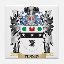 Tunney Coat of Arms - Family Crest Tile Coaster