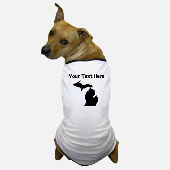 Custom Michigan Silhouette Dog T-Shirt