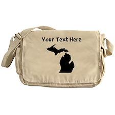 Custom Michigan Silhouette Messenger Bag