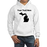 Michigan silhouette custom Light Hoodies