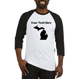 Custom michigan silhouette Long Sleeve T Shirts