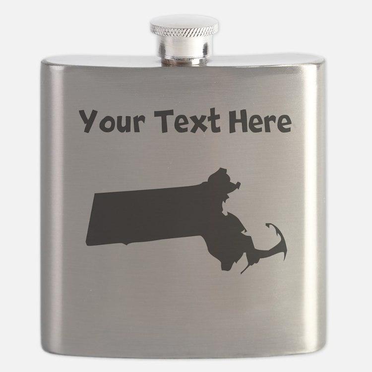 Custom Massachusetts Silhouette Flask