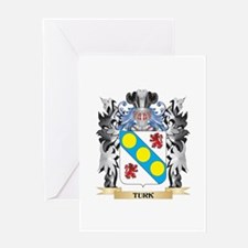 Turk Coat of Arms - Family Crest Greeting Cards
