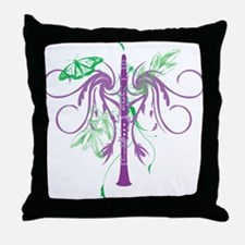 Fantasy Clarinet Throw Pillow