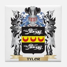 Tylor Coat of Arms - Family Crest Tile Coaster