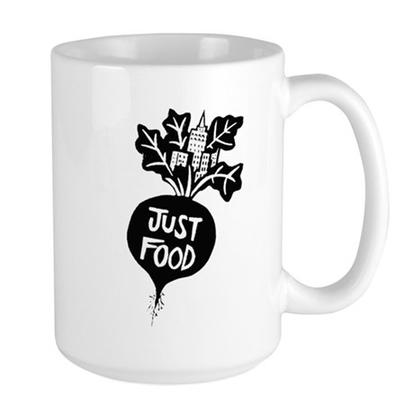 Just Food Large Mug (B/W)