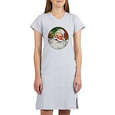 Vintage Santa Face 1 Women's Nightshirt