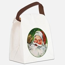 Vintage Santa Face 1 Canvas Lunch Bag