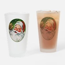 Vintage Santa Face 1 Drinking Glass