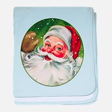 Vintage Santa Face 1 baby blanket