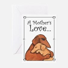 Adopted Mom Dog Greeting Cards (Pk of 10)