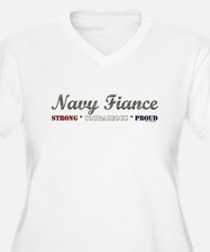 Navy Fiance:Strong Courageous T-Shirt