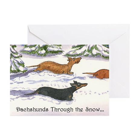 Dachshunds Thru Snow Christmas Cards (10)