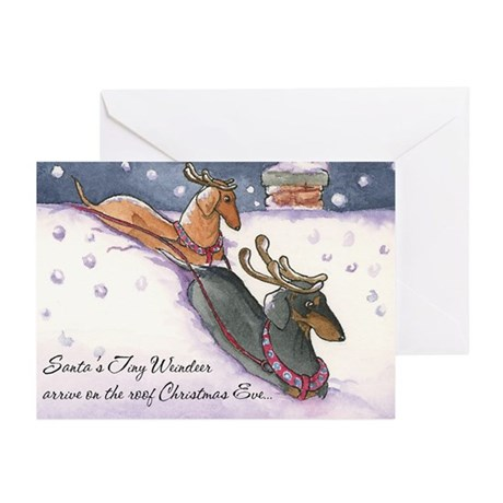 Dachshund Reindeer Christmas Cards (10)
