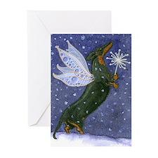Dachshund Snow Fairy Christmas Card (10)