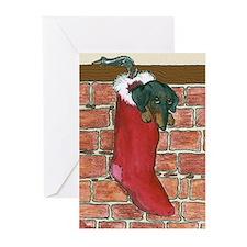 Dachshund Stocking Christmas Cards (10)