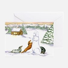 Longhaired Snow DoxieGreeting Cards (Pk of 10)