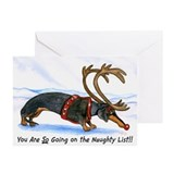 Dachshund holiday Greeting Cards (10 Pack)