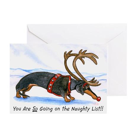 Naughty Dachshund Christmas Card (10)