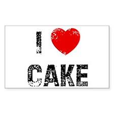I * Cake Rectangle Decal