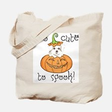 Halloween Maltese Tote Bag