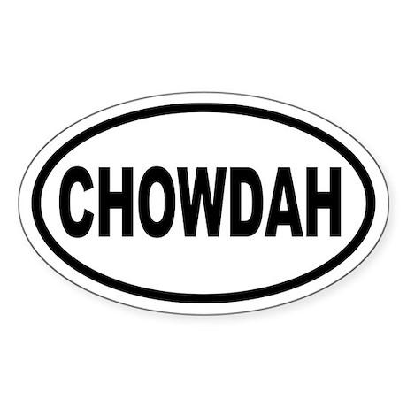 Oval Chowdah Stickah (Oval)