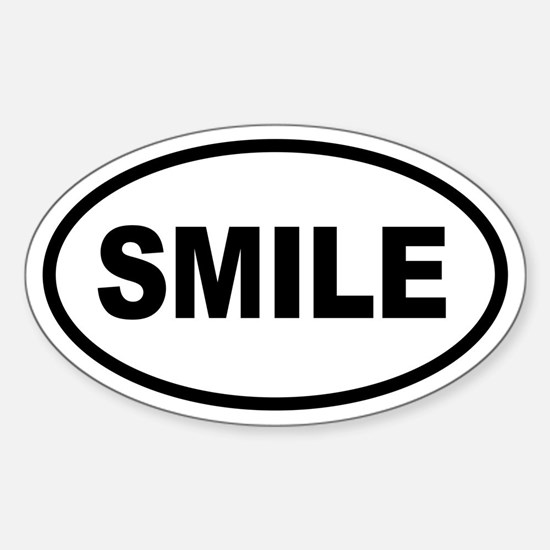 Basic SMILE Oval Oval Bumper Stickers