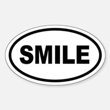 Basic SMILE Oval Oval Decal
