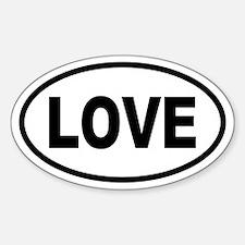 Basic LOVE Oval Oval Decal