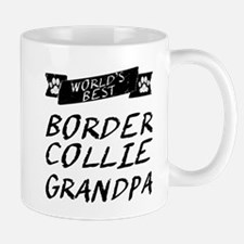 Worlds Best Border Collie Grandpa Mugs