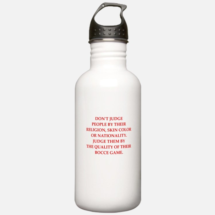 bocce joke Water Bottle